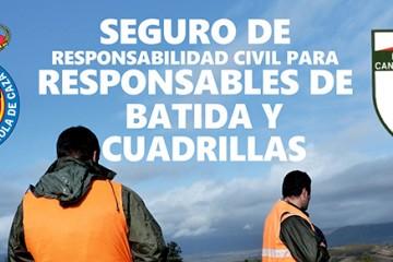 Seguro de Responsabilidad Civil para Responsables de batida y Cuadrillas
