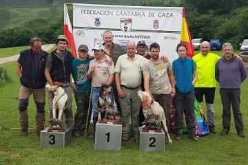 Concursantes clasificados en el XXIX Campeonato Regional de Perros de Rastro Atraillados sobre Rastro de Jabalí